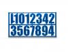 Цифры для нумерации улиев (пластмассовые)