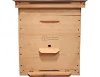Улей 12-ти рамочный Дадана-Блатта: Дно, 1 корпус, 1 надставка, подкрышник, крышка оцинкованная. Толщ. стенки 38 мм